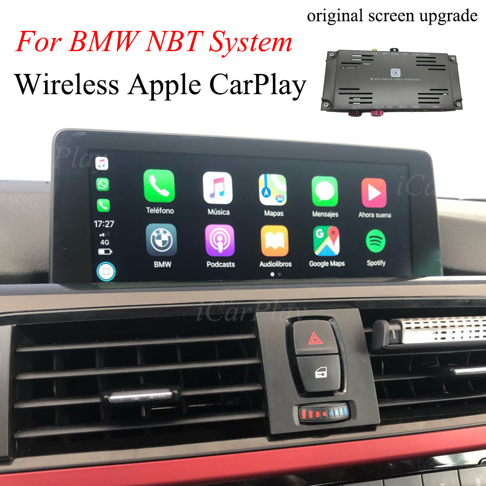 OEM Upgrade Kit Apple CarPlay For 2017 BMW 1 Series 6.5 Inch Monitor WithBackup Camera Interface Box Support Android Mirror image