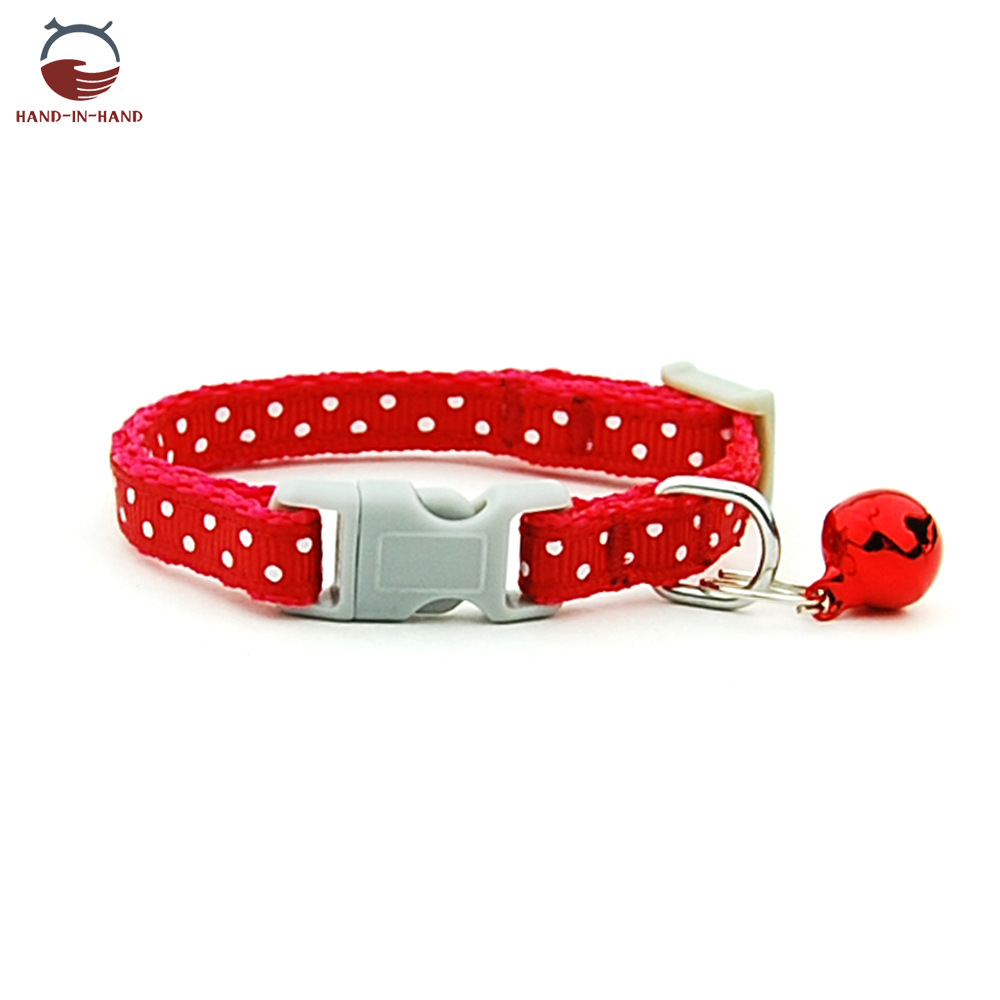 Hand-in-hand Pet Supplies Cat Dog Collar 0.8 Cm Dotted Plaid Star Stripes Lace Small Neck Band
