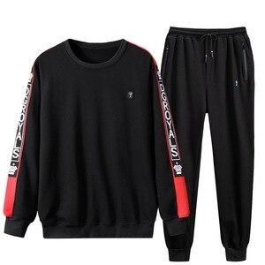 Image 5 - Tracksuit Men Plus Size 6XL 7XL 8XL 9XL 2 Piece Sweatsuit Clothes Man Sports Suits Set Pullover Jacket Mens Sweat Track Suit