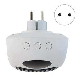 Mini termowentylator do montażu na ścianie elektryczny podgrzewacz kuchenka grzejnik cieplej gospodarstwa domowego ogrzewania pomieszczeń wentylator maszyna na zimę ue wtyczka w Grzejniki elektryczne od AGD na
