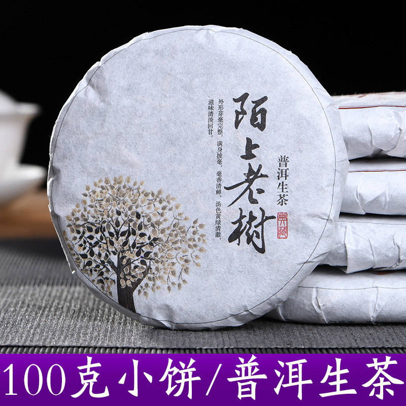 Yunnan Pu'er Tea Tea Cake Raw Puer Tea Wu Yi Antique Tree Old Tea 100g