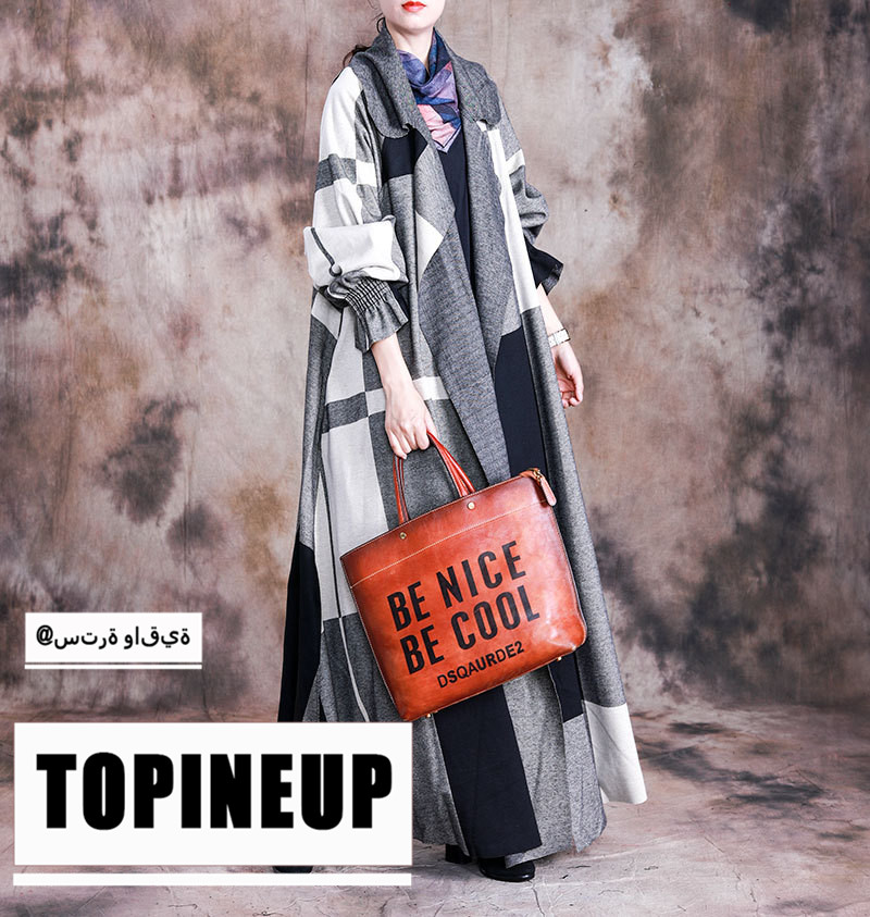 High Quality Oversize Patchwork Wool   Trench   Coat Stlylish Supernatural Temperament Long Coat Female Loose Outwear Windbreaker