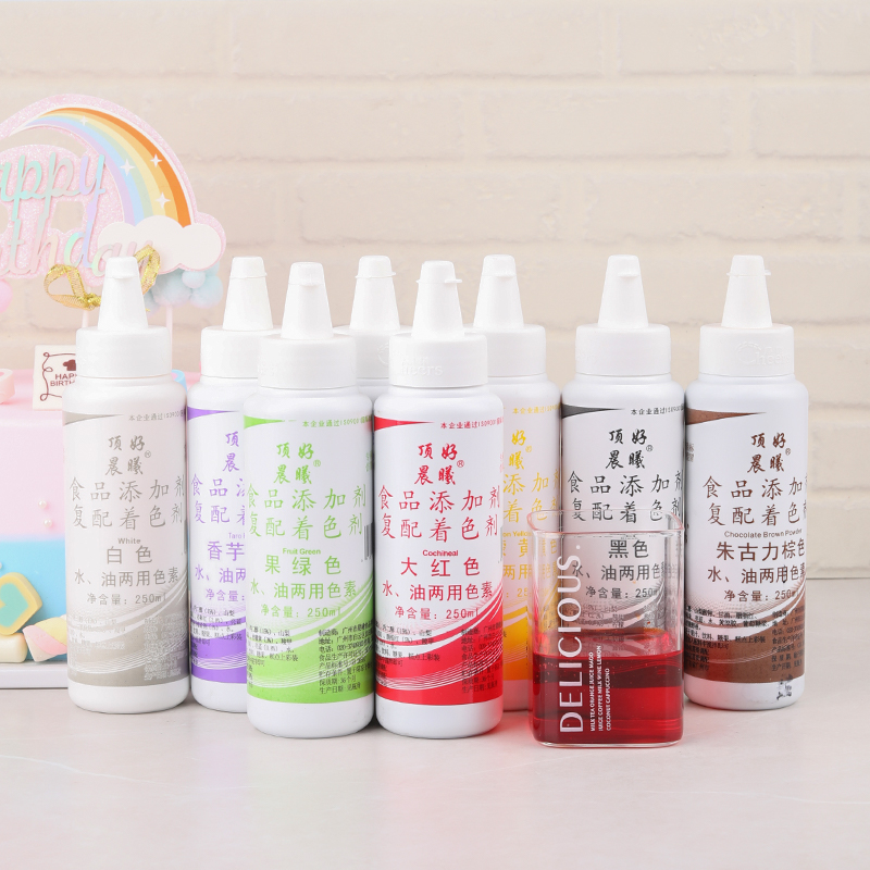 Large-capacity Water And Oil Color White Liquid Food Color Cream Decorating Cake Color 250g Bottle / Art Supplies