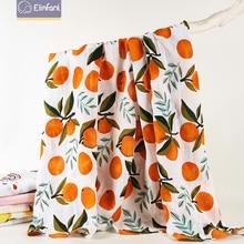 Elinfant 1pcs Muslin 100% Cotton Baby Swaddles Soft Newborn Blankets Bath Gauze Infant Wrap Sleepsack Stroller Cover Play