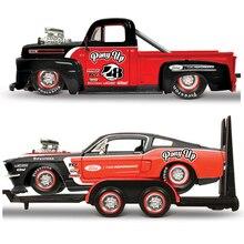 KaKBeir Maisto 1:24 1948 FORD F1 PICKUP / 1967 FORD MUSTANG GT Kombination Auto Modell Geschenk Sammlung Spielzeug