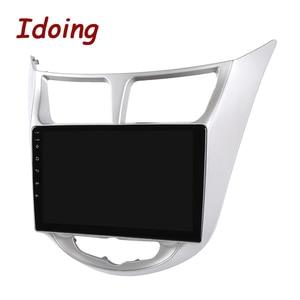 Image 5 - Idoing راديو السيارة Android ، نظام الملاحة GPS ، Carplay ، مشغل الوسائط ، no 2din ، لشركة Solaris 1 2 ، Hyundai أكسنت Verna (2010 2016)