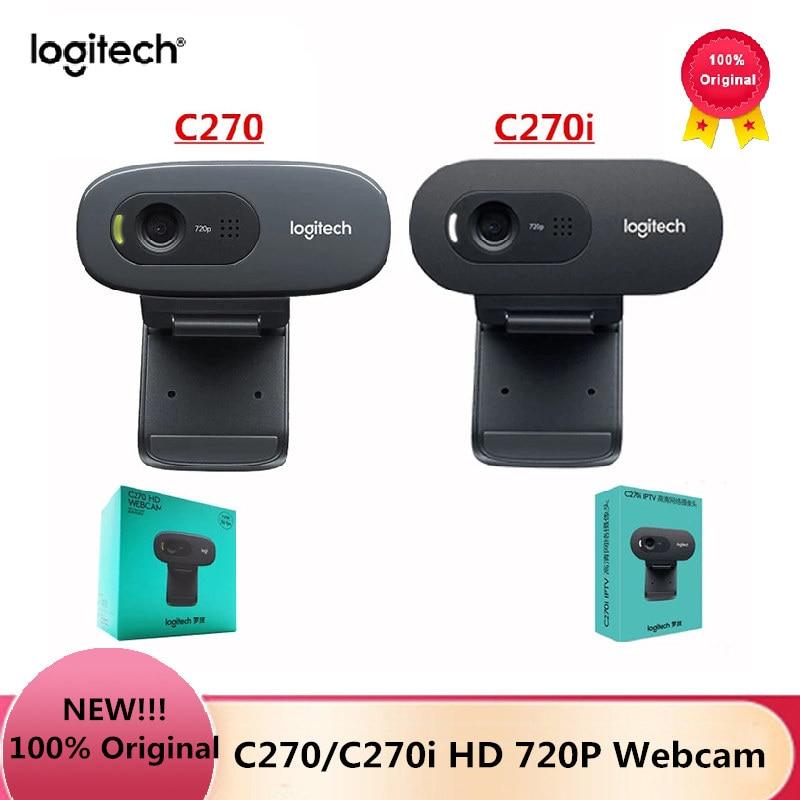 Original Logitech C270/C270i HD Video 720P Webcam Built in Micphone USB2.0 Computer Camera USB 2.0 for PC Lapto Video Calling|Webcams| - AliExpress