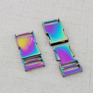 Image 4 - 5 10 30 pieces 2.5cm 1 inch Rainbow Dog Collar Slider Buckles,Personalized release buckles strap adjuster