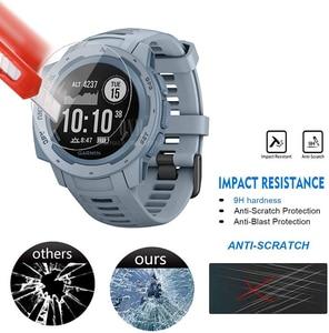 Image 5 - 9H Premium Gehärtetem Glas Für Garmin Instinct Flut GPS Smartwatch Screen Protector Explosion Proof Film Zubehör