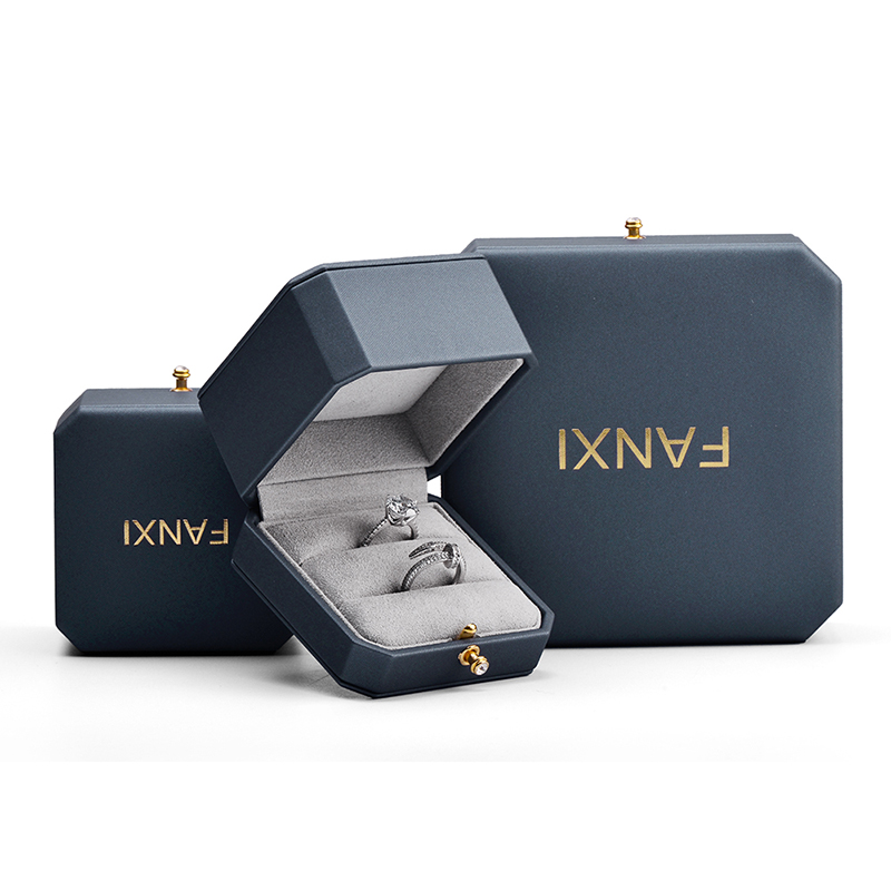 Fanxi Jewelry Box Octagon Ring Earring Necklace Pendant Box Jewelry Packaging Case Box Wedding Gift Box