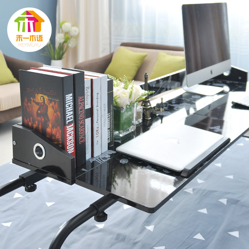 [] Bed Two-person Computer Desk Desktop For Minimalist Modern Removable Laptop Table