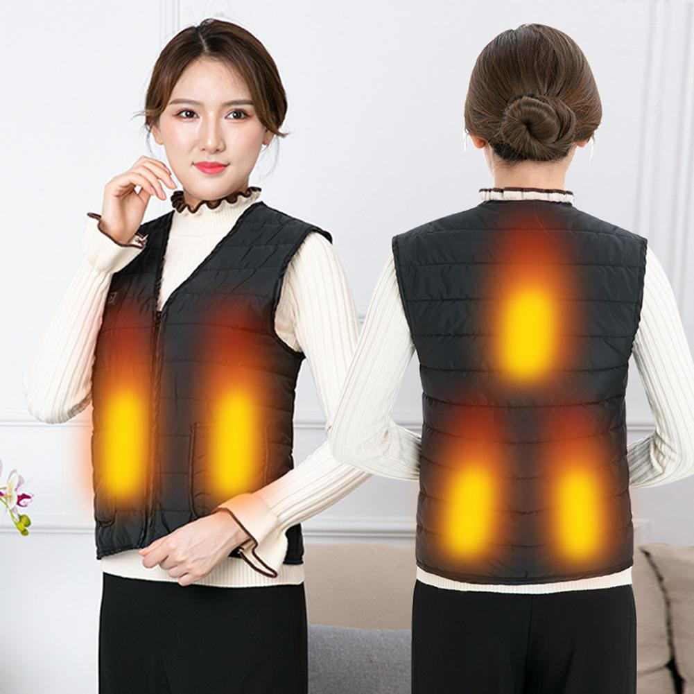 Men Women Outdoor USB Infrared Heating Vest Flexible Electric Thermal Winter Warm Jacket Clothing For Sports Hiking Riding Vest