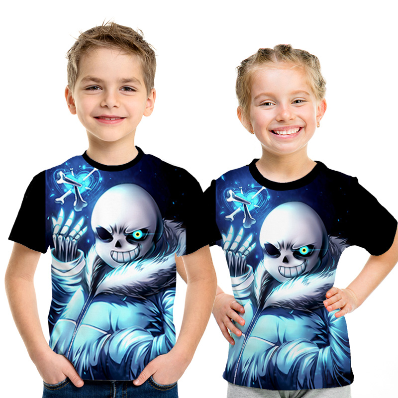 Cool Under-Tale-Sans Eye Kids T-Shirts Long Sleeve Tees Fashion Tops for Boys//Girls