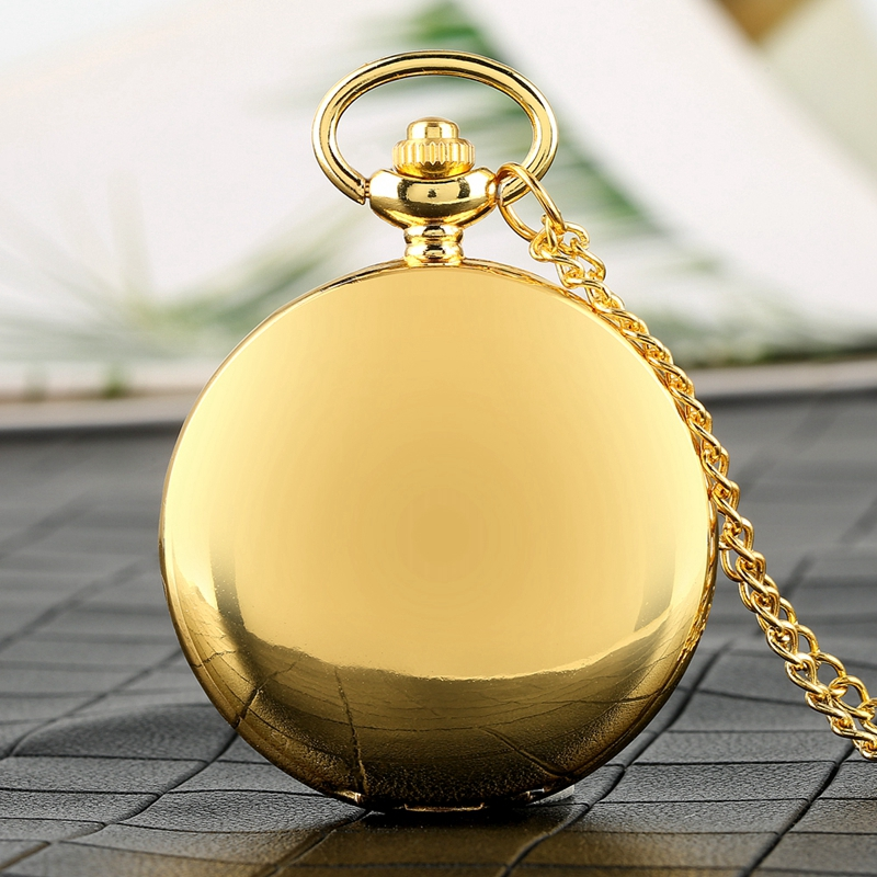 Royal Black Ball Shaped Quartz Pocket Watch Roman Numerals Dial Analog FOB Clock Chain Pendant Gold Necklace Watch For Men Women