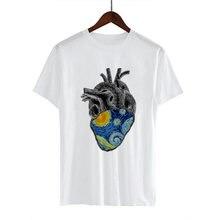 Женская футболка с принтом «масло» van gogh уличная в стиле