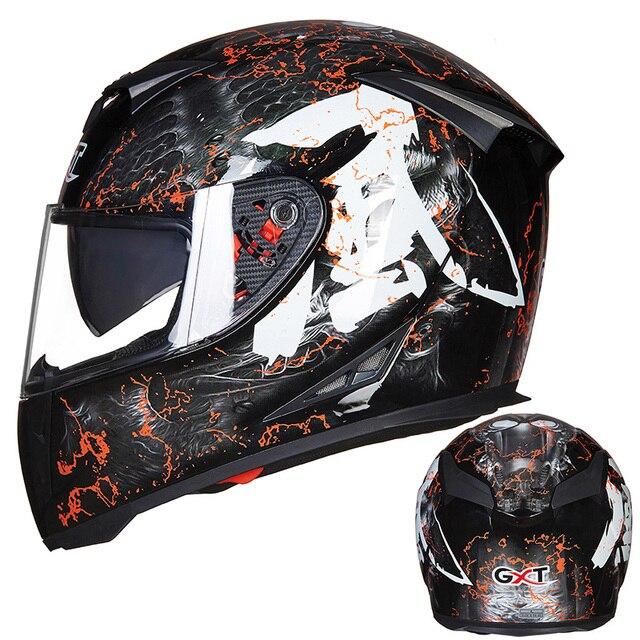 את האחרון GXT 358 אופנוע קסדה מלא פנים קסדת גברים של מירוץ capacete casco מוטוקרוס cascos