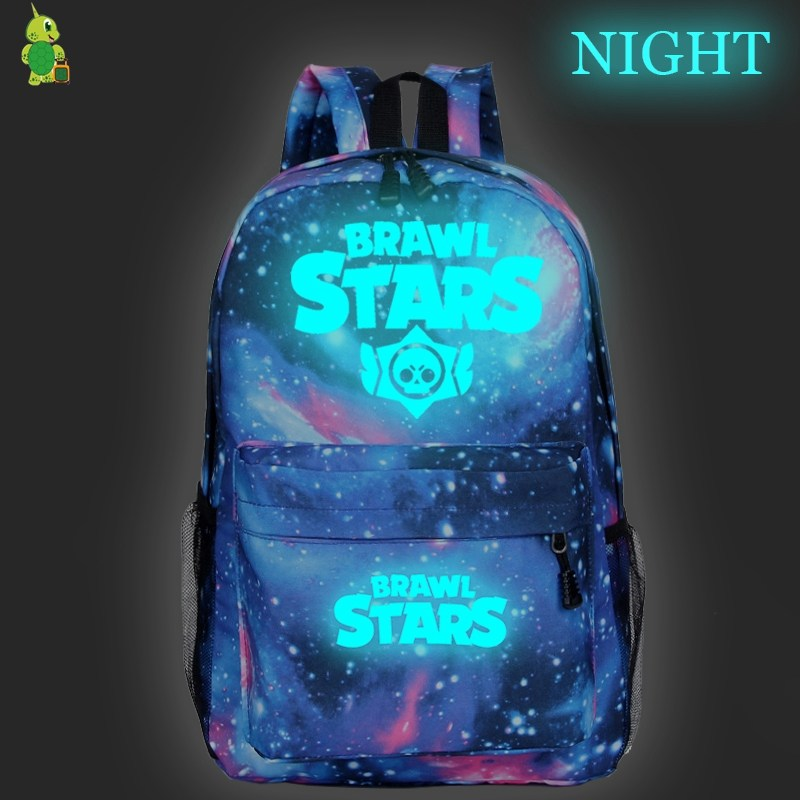 Women Backpack Bookbags Laptop Travel Brawl Stars Girls Galaxy Luminous Mochila Teenage