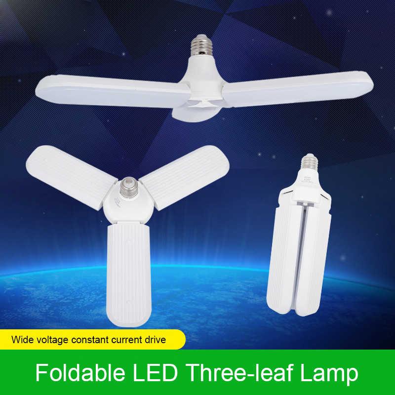 Складной вентилятор лезвия светодиодный подвесные светильники без мерцания B22 E27 светодиодный лампы 36 Вт 60 Вт 220V 360 градусов Регулируемая потолочная лампа светодиодный трилистника