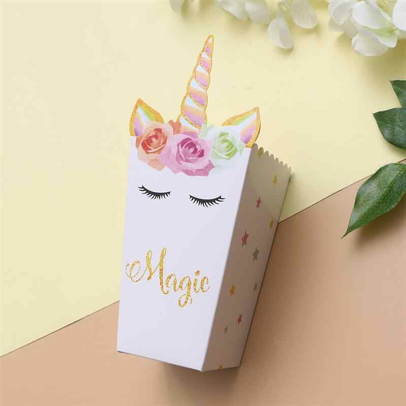 36pcs Popcorn Carton Unicorn Cartoon Paper Boxes Snack Container For Kids Birthday Parties Movie Theater Candy Bags Aliexpress