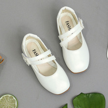 Little Girl Shoes Children's Zapatos School Baby Girls White Wedding Party Dress Shoes For Girls Kids Leather Princess Shoes New