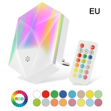 Kid's bedroom baby feeding eye protection small lamp Battery Power round night light LED Stick-Anywhere Nightlight with remote
