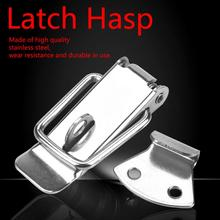 2Pcs/set Hasp Latch Lock Spring Loaded Latch Catch Toggle Hasp  hardware furniture 4pcs set adjustable toggle latch catches lock durable cabinet boxes lever handle clamp hasp silver red