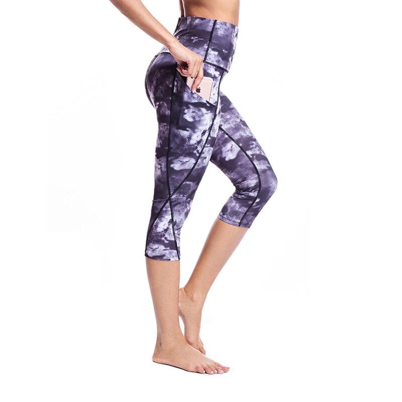 TOIVOTUKSIA women Calf-length Leggings High Waist Capris Tummy Control Workout Non See-Through Gym Sport Pants