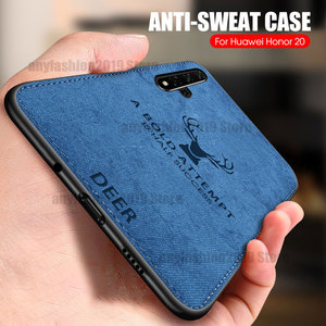 Cloth Phone Case For Huawei P40 Lite P20 P30 Pro Nova 7 SE 7i 5 Cover Honor 9A 4T Pro 30S 30 Pro 20 9X P30 P20 Lite 2019 Case(China)