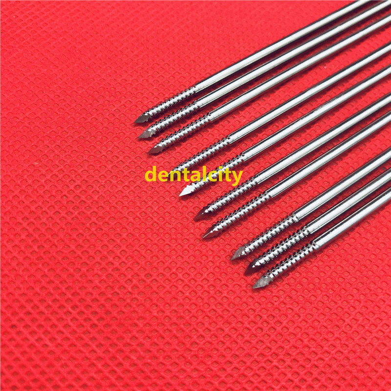 10pcs Stainless Steel Partial Threaded Kirschner Wires Veterinary Orthopedics Instruments