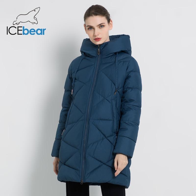 ICEbear 2019 New Winter Women's Jacket Thick Warm Female Jacket Stylish Woman Coat High Quality Winter Female Clothing GWD18297I