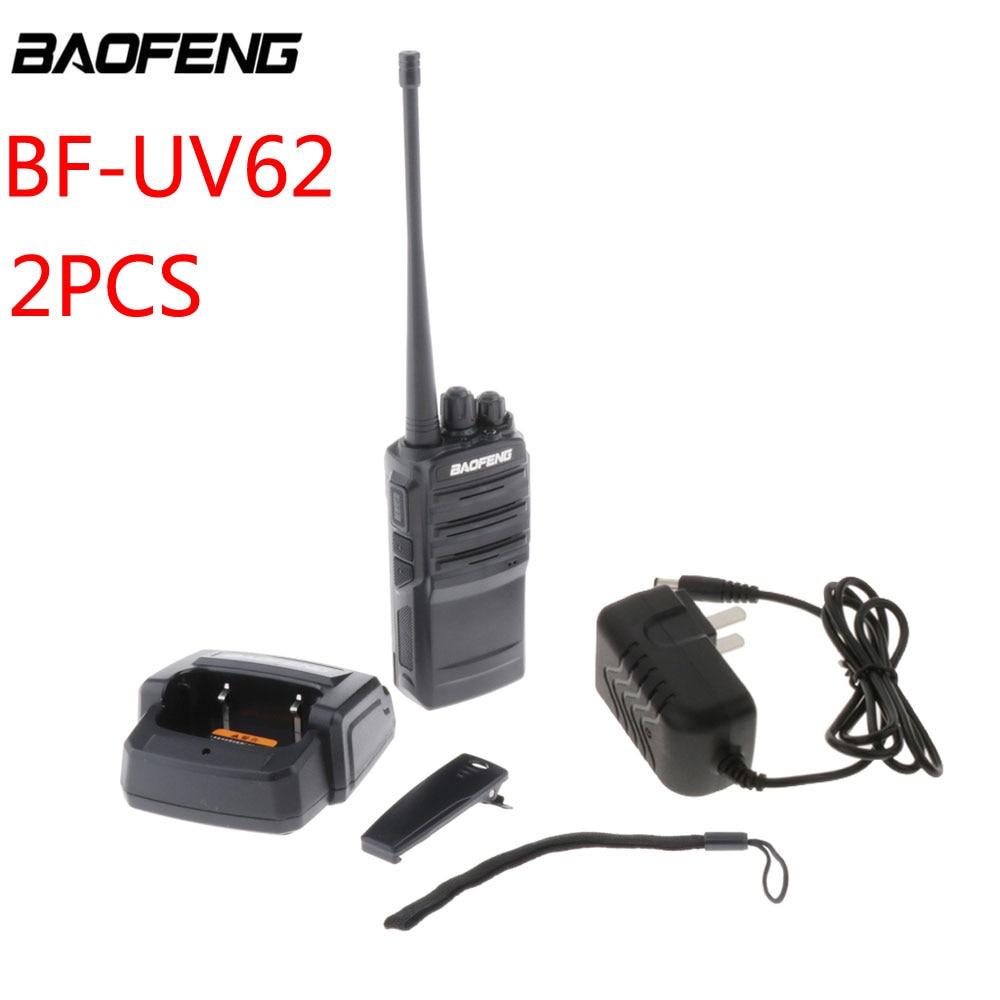 2 шт. 5 Вт VHF UHF портативный UV 62 Ham Радио Baofeng BF-UV62 Walkie Talkie профессиональная CB радиостанция Baofeng BF-UV62 приемопередатчик