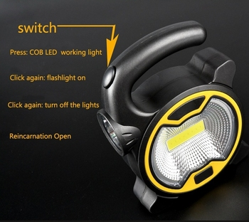 1PCs Portable COB Work Lamp LED Lantern Waterproof Emergency Spotlight Rechargeable Floodlight for Outdoor Hiking Camping Light 4