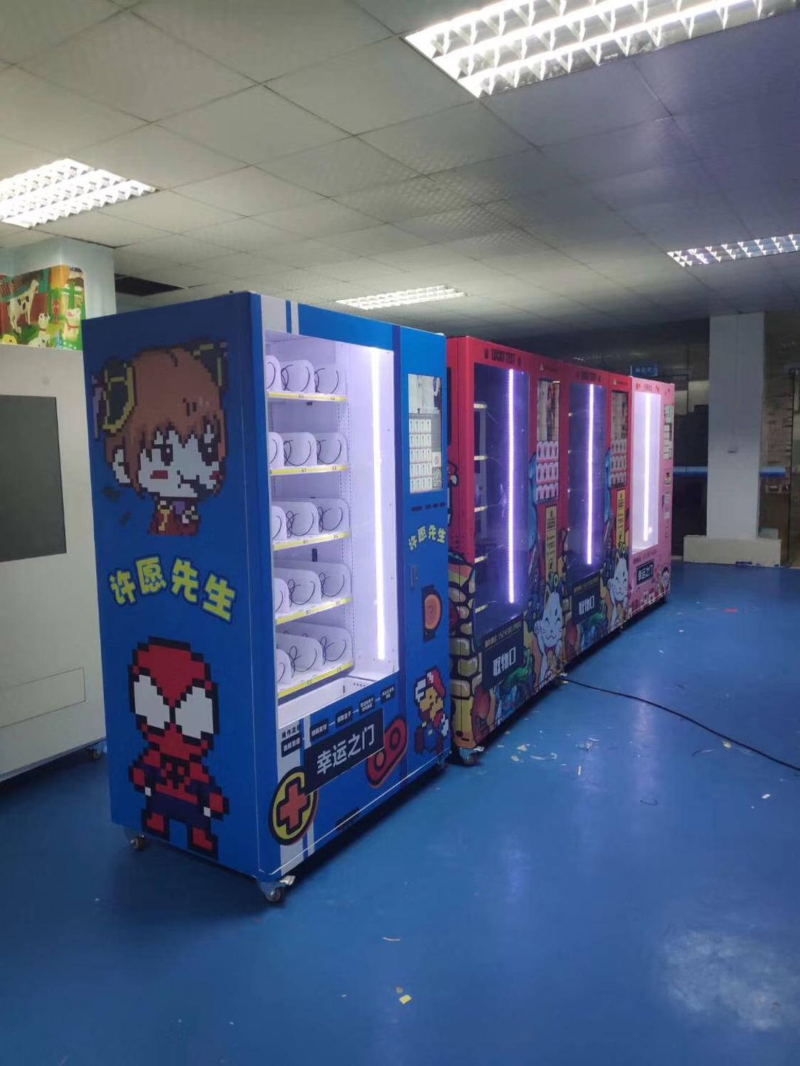 Outdoor 24 Hours Online Self Service Stores Drinks And Snacks Vending Automatic Machine Cabinet