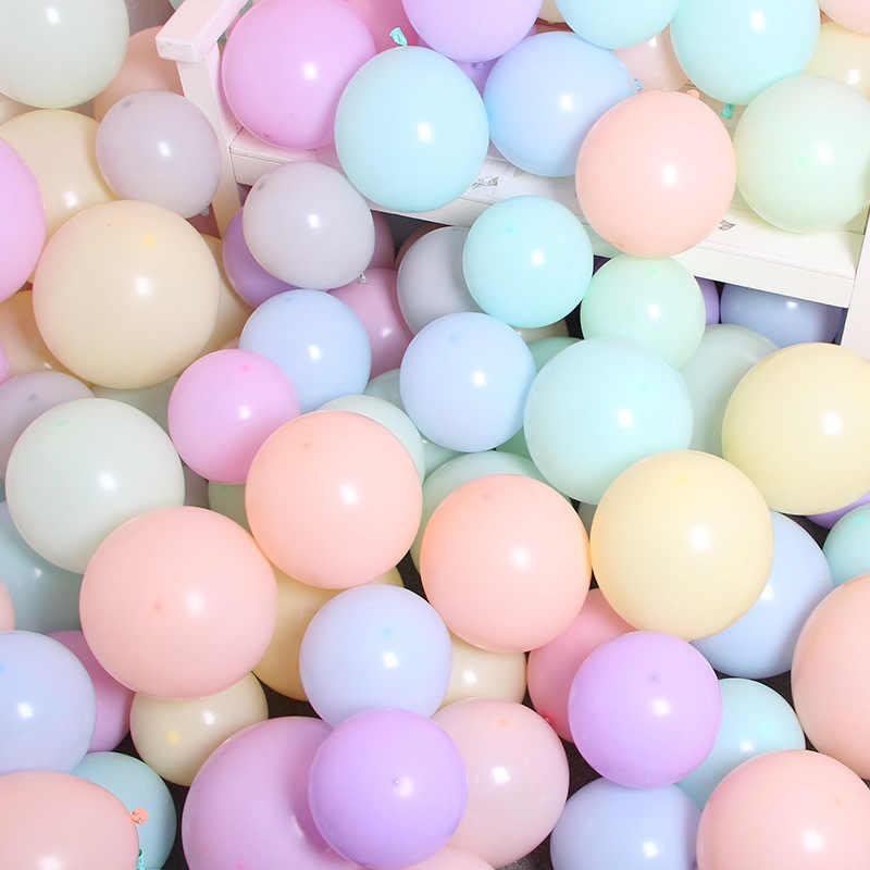 """100 قطعة 5 """"/10""""/12 """"باستيل كاندي معكرون اللاتكس بالونات بالون مملوء بالهليوم لحفل زفاف عيد ميلاد ألعاب أطفال Globos بالونات حفلات"""