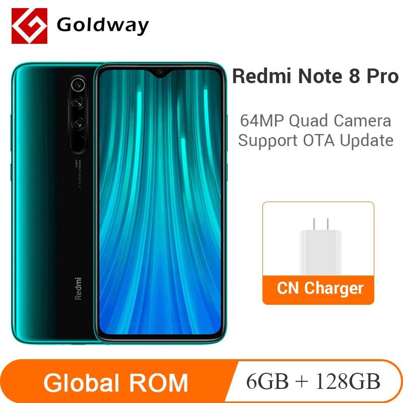 "Global ROM Xiaomi Redmi Note 8 Pro 6GB RAM 128GB ROM Mobile Phone 64MP Quad Camera Helio G90T Octa Core 6.53"" 4500mAh NFC(Hong Kong,China)"