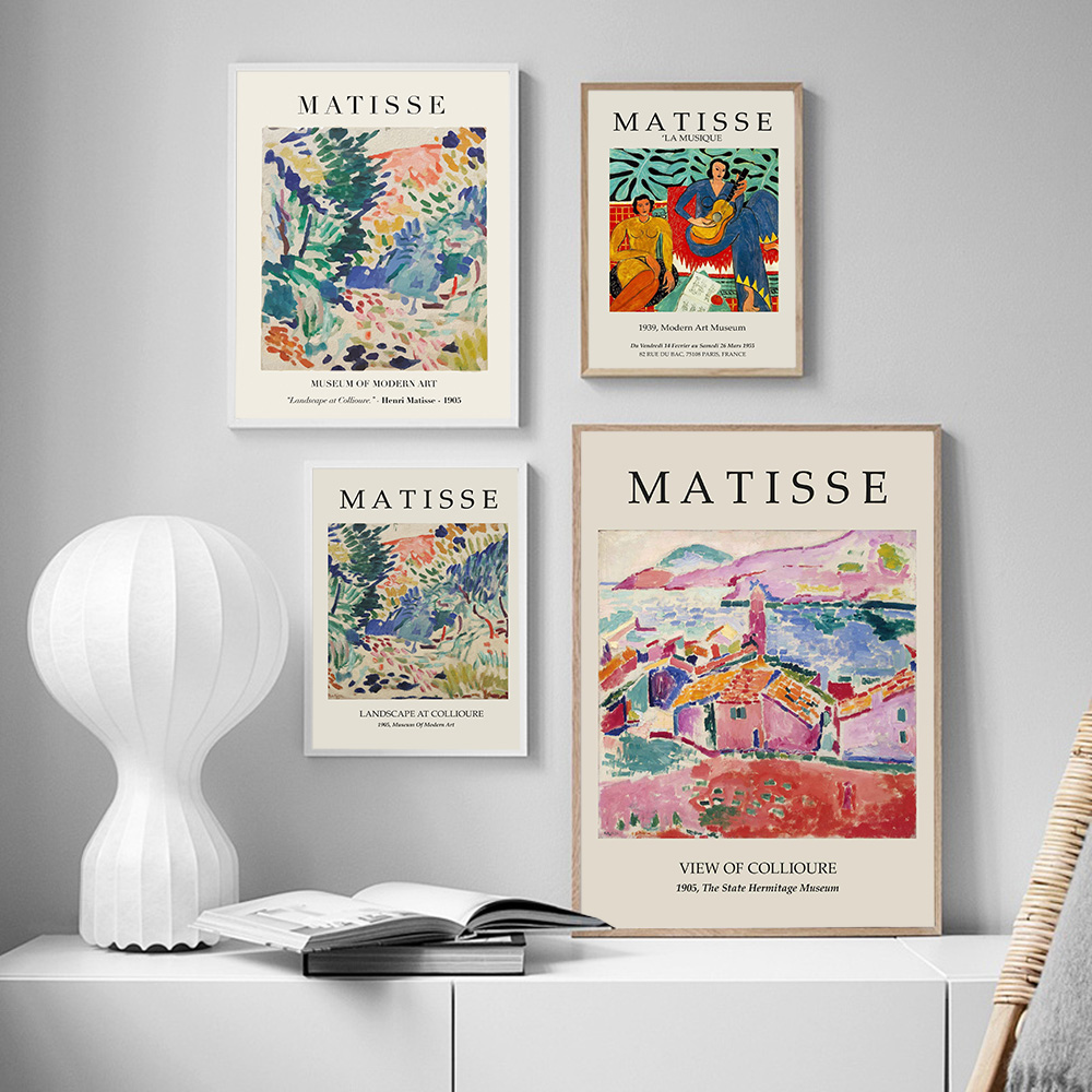 Abstract Colorful Style Canvas Painting Exhibition Wall Art Pictures Matisse Posters Prints Interior Living Room Home Decor