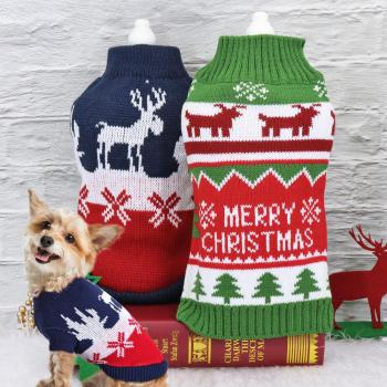 Soft Woolen Dog Sweater For Christmas Warm Winter Cat Dogs Knitwear Sweaters Small Medium Dogs Clothes French Bulldog Chihuahua image