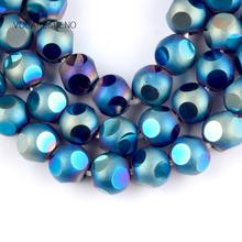 """Natural Faceted Blue Crystal Czech Stone Round Loose Beads For Jewelry Making 8mm Spacer Beads Fit Diy Bracelet Necklace 15"""" oval shape star stone corundum cabochon blue stone beads for jewelry making diy faceted blue stones"""