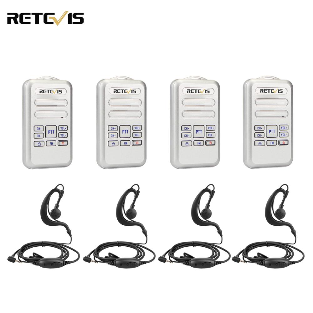 Retevis RT20 Mini Walkie Talkie 4pcs Radio 2W UHF Transceiver VOX FM Radio Type-C USB Charge 2 Way Radio Walk Talk Comunicador