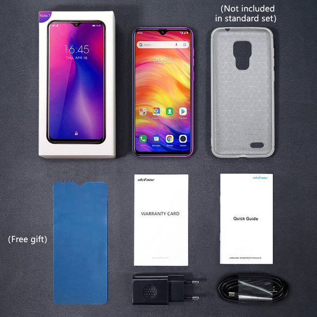 Ulefone Note 7 Smartphone 3500mAh 19:9 Quad Core 6.1inch  Waterdrop Screen 16GB ROM Mobile phone WCDMA Cellphone  Android8.1 5