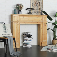 American vintage homestay fireplace decoration cabinet solid wood living room wedding photography props French European simple m