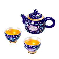 Porcelain Silver Kung Fu Tea Set Ceramic Silver Cup Teapot Simple One Pot Two Cups Home Lazy Tea Making Set