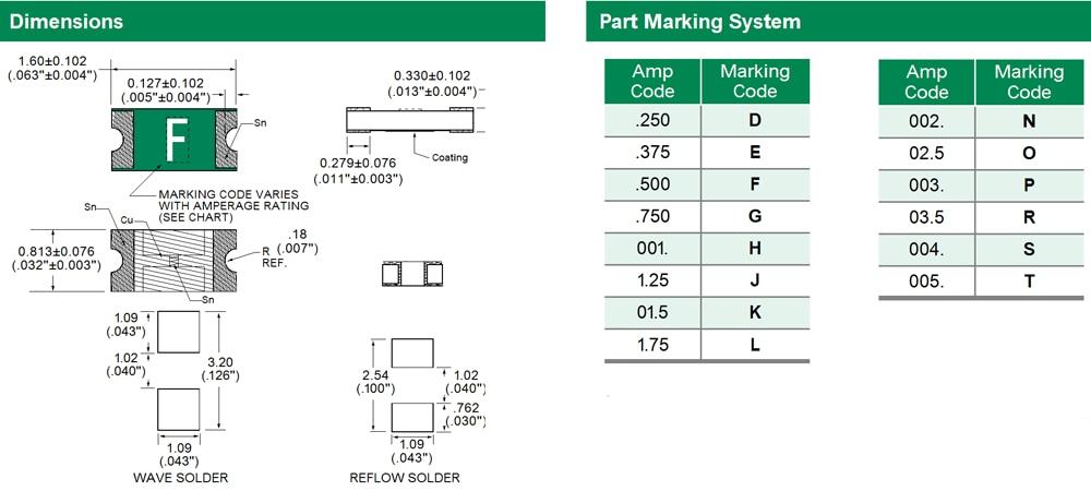 SMD Fuse 0603 Super Speedy 0,75A 32VDC SIBA//ESKA//LITTLEFUSE 2 Pcs