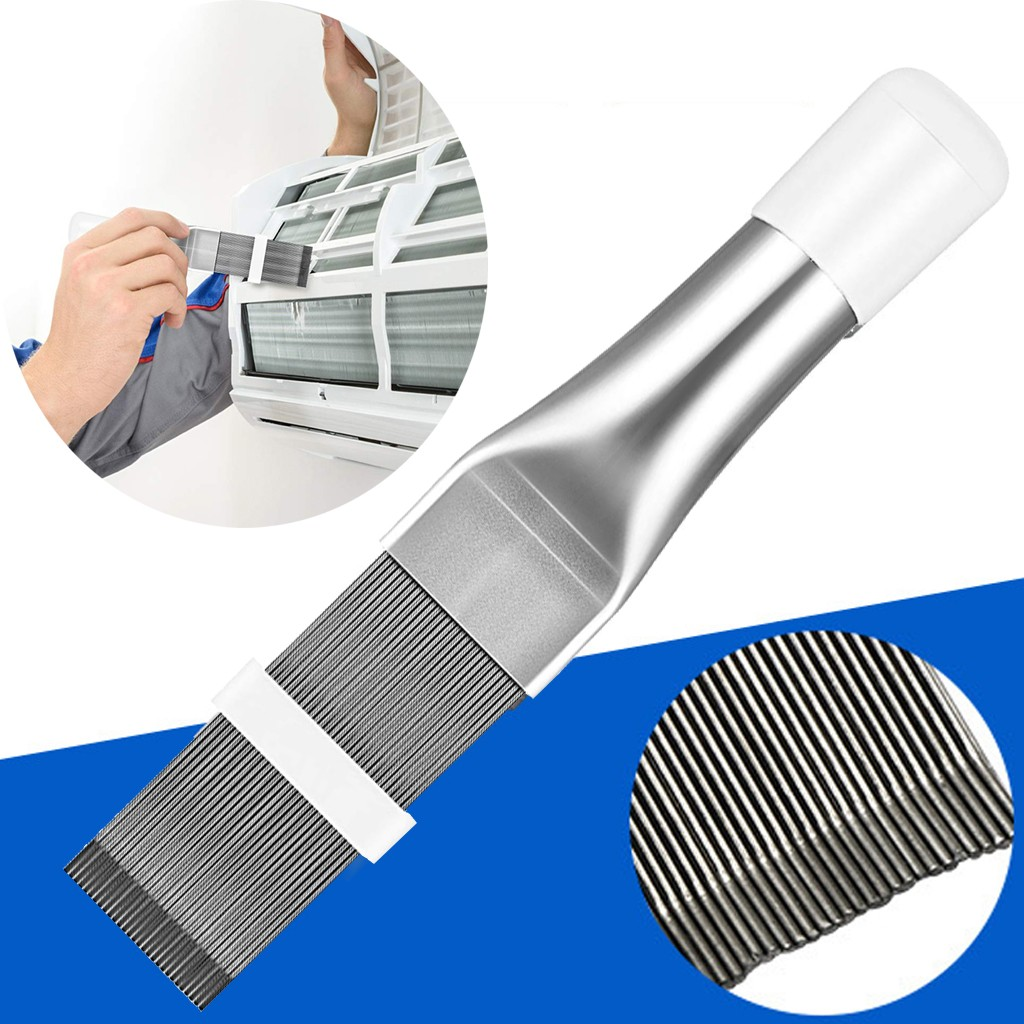 Air Conditioner Fin Repair Comb,Conditioner Condenser Fin and Refrigerator Coil Cleaning Tool Automotive A//C Evaporator Comb Straightener Cleaner 1pcs