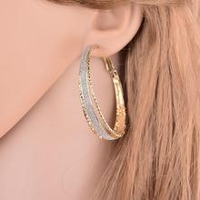 Elegant Women Rhinestone Large  Earring Set Statement gold Round Geometry Earring For Women Jewelry Handmade Earrings ER200057