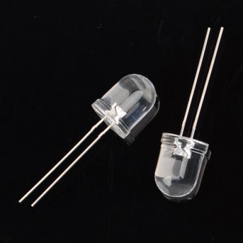 10 PCS 10mm Ultra Bright Ultraviolet UV LED Light Emitting Diode 80-120MCD