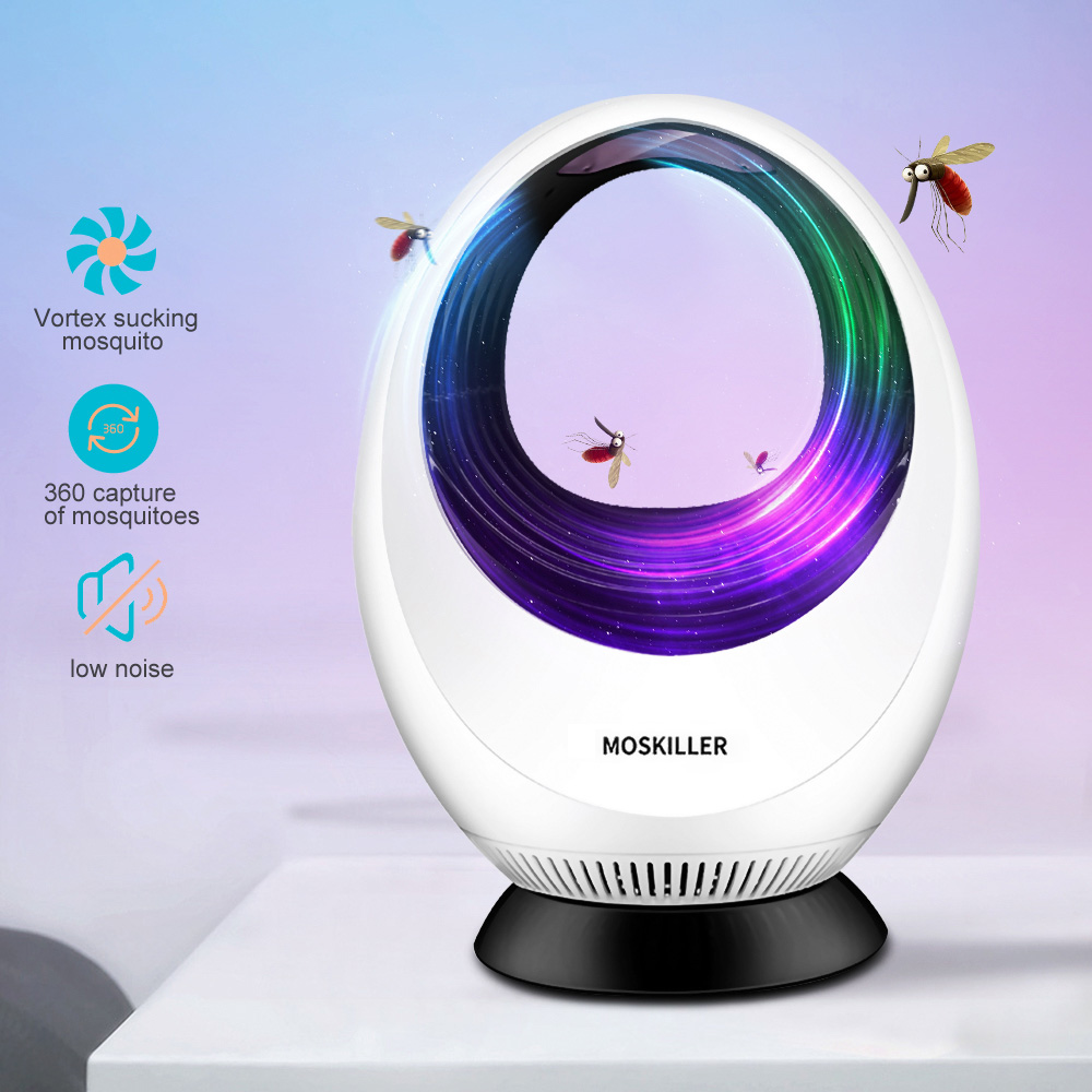 Electronic USB Mosquito Killer Lamp Strong Fan Suction Indoor Mosquito Killer Fly Trap LED Light Lamp Insect Repeller Zapper