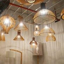 Nordic Led Wood Pendant Lights Suspension Loft Decor Pendant Lamps Fixtures Kitchen Living Room Hanging Lamps Bedroom Luminaria