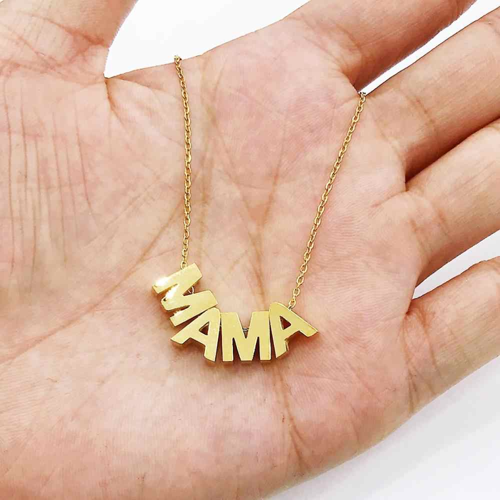 Fashion Delicate Letter Mama Necklace Mothers Love Initial Pendant Jewelry Letters Necklace for Moms Mother's Day Gift For Women