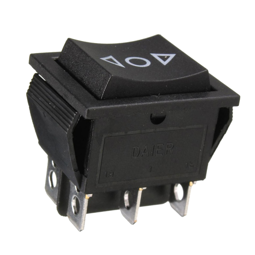 Qty (4) 6 Pin DPDT Power Window Momentary Rocker Switch AC 250V/10A 125V/15A image